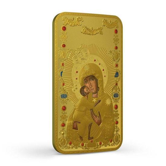 Picture of Серебряная монета с позолотой «Православные святыни - Феодоровская Богородица» 31.1 грамм 2014 г.