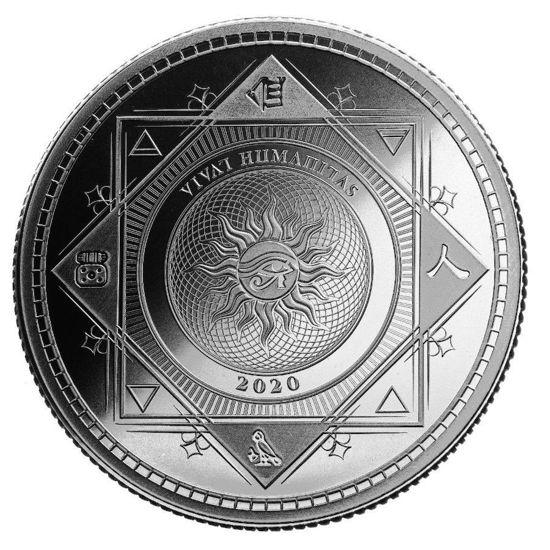 "Picture of Срібна монета ""Хай живе Людство - Vivat Humanitas"" 31.1 грам 2020 р Токелау"