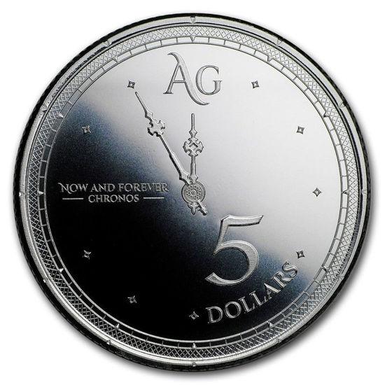 """Picture of Срібна монета """"Хронос - Час і Інвестиції"""" 31.1 грам 2019 р. Токелау"""