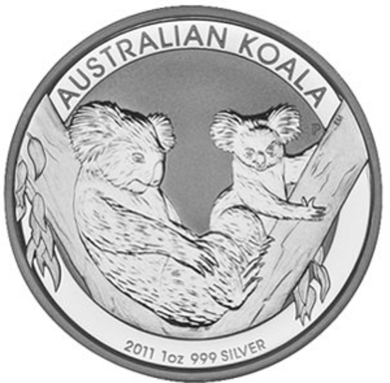 """Picture of Срібна монета """"Коала"""" 2011"""