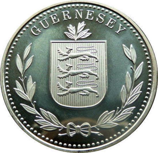 "Picture of Серебряная монета  ""8 дублей Гернси"" 31.1 грамм  2014"