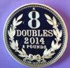 """Picture of Срібна монета """"8 дублів Гернсі"""" 31.1 грам 2014"""