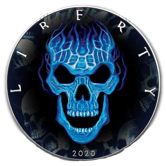 "Picture of Серебряная монета  ""Американский орел Liberty - Череп"" 31.1 грамм 2020 г. США"