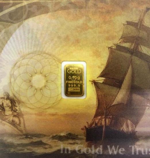Picture of Золотий злиток 0.1 ГРАМ Karatbars- Karatpay (готівкове золото)