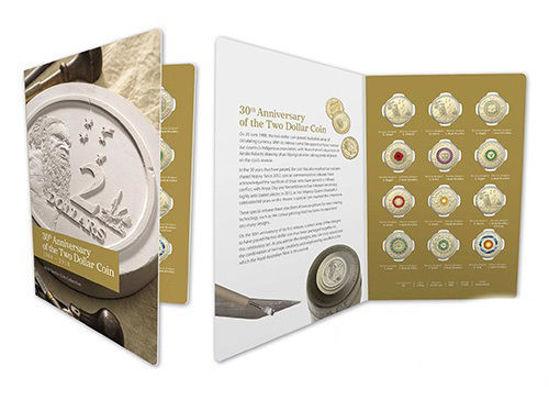 Picture of Австралія набір з 12 монет 2 долара 2018, 30 років дводоларової монети