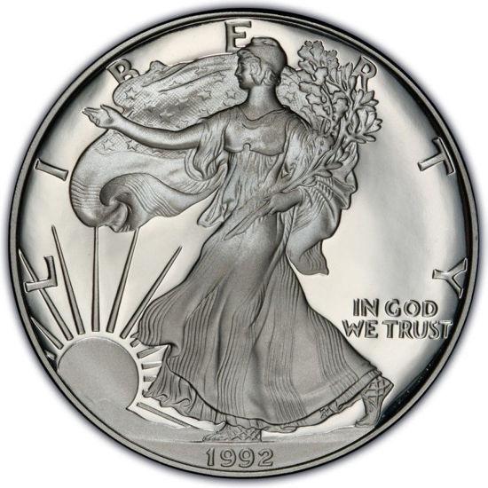 Picture of 1 $ долар США Американський Срібний Орел Liberty 1992 р