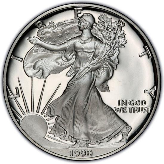 Picture of 1 $ долар США Американський Срібний Орел Liberty 1990 р