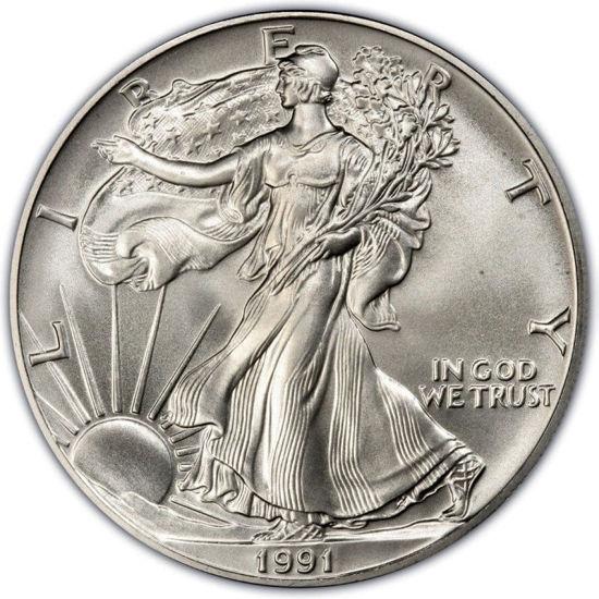 Picture of 1$ доллар США  1991г. Американский Серебряный Орел Liberty 1991 г.