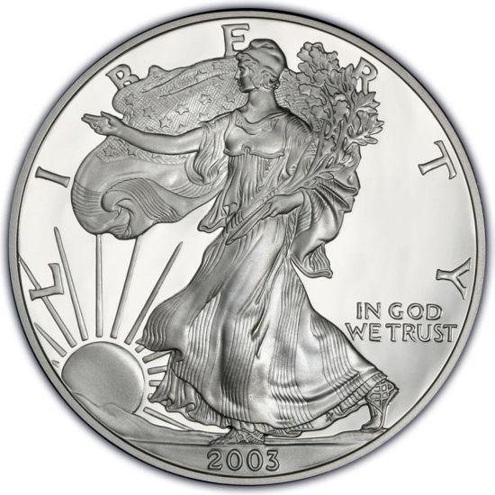 Picture of 1$ доллар США 2003г. Американский Серебряный Орел Liberty 2003 г