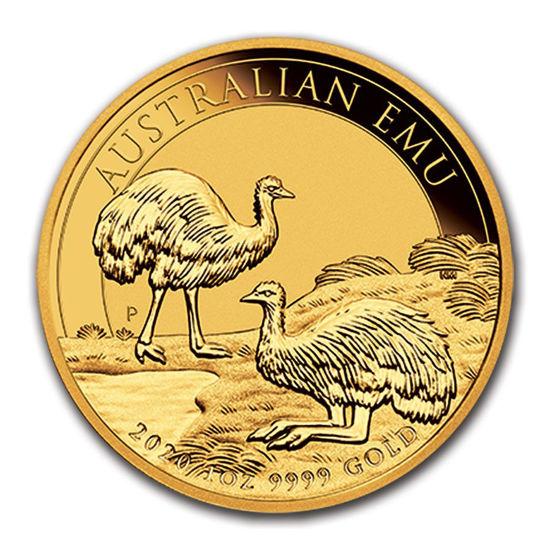 Picture of Серия монет Австралии «Страус Эму» 2020 Золото 31,1 грамм