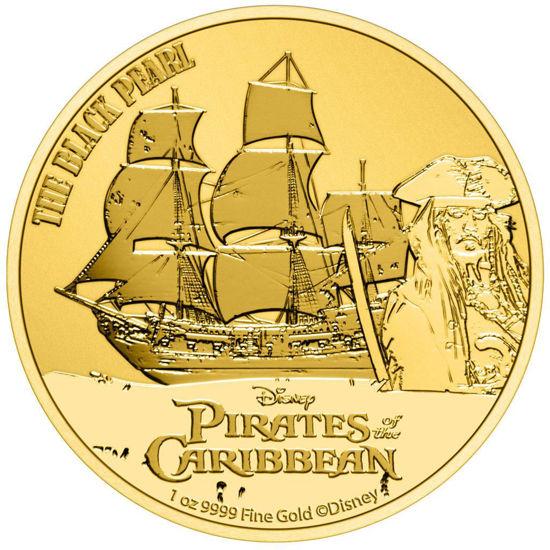 Picture of Золотая монета  «Пираты Карибского моря - Черная жемчужина» 2021 31,1 грамм