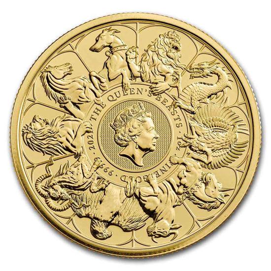 Picture of Золота монета The Queen's Beasts 2021 Звірі королеви 2021 31,1 грам