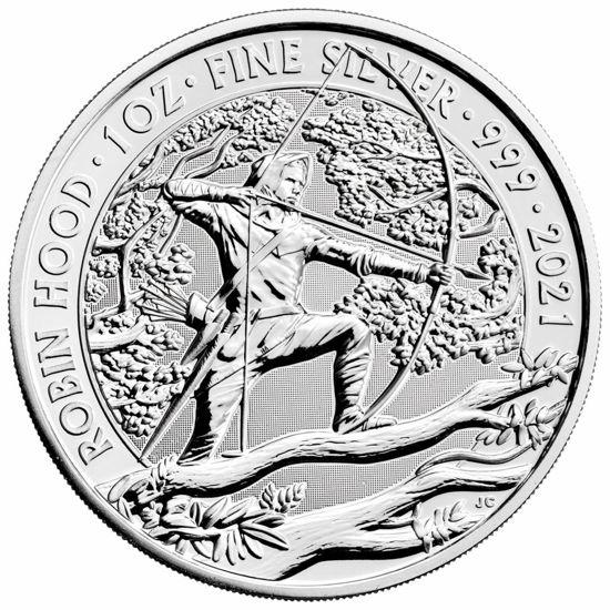 """Picture of Серебряная монета """"Робин Гуд"""" 31.1 грамм 2021"""