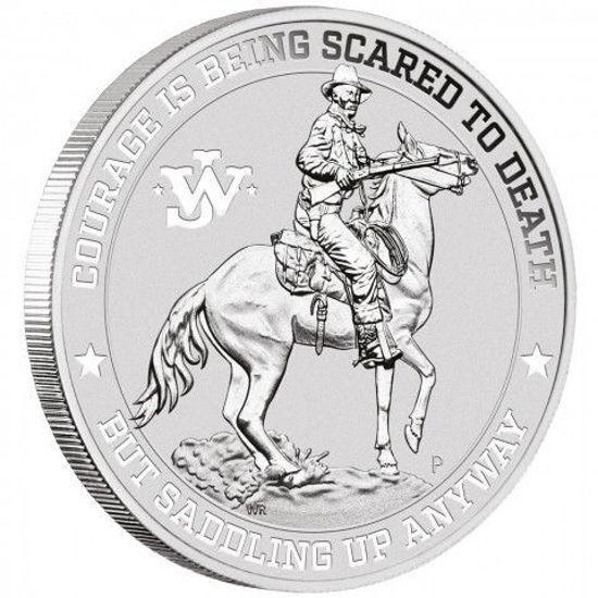 "Picture of Серебряная монета ""Джон Уэйн"" 31,1 грамм Тувалу 2021 Тувалу"