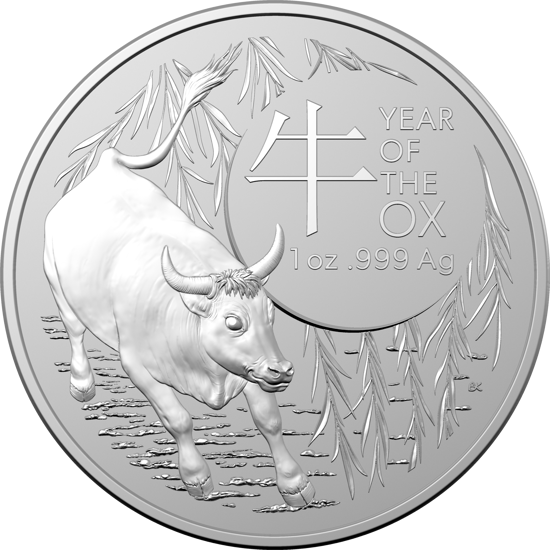 "Picture of Серебряная монета ""Lunar III - Год Быка"" 31,1 грамм 2021 г. Австралия"