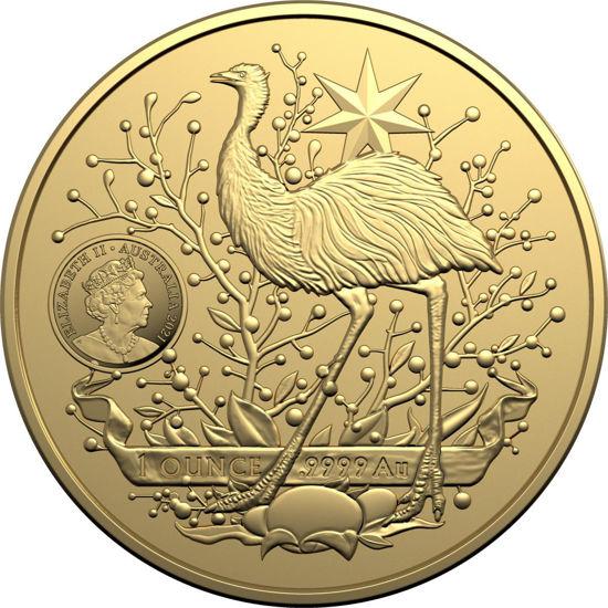 "Picture of Золотая монета ""100 долларов - Герб Австралии"" 31,1 грамм 2021 г. Австралия"