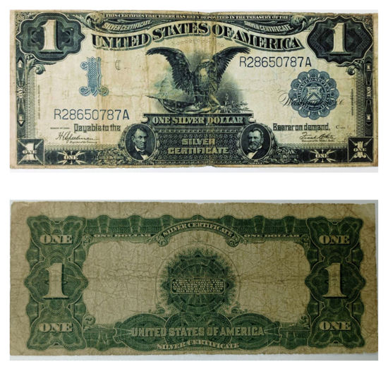 """Picture of 1 долар США 1899 р. """"номер -  R 6465644 A"""""""