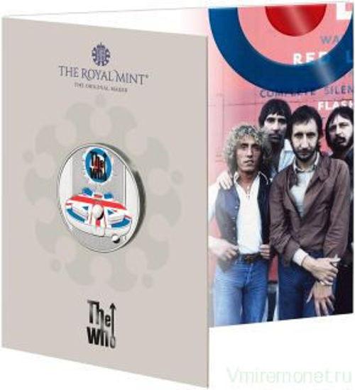 Picture of Англия, Великобритания 5 фунтов 2021. Рок-группа «The Who». Цветная эмаль