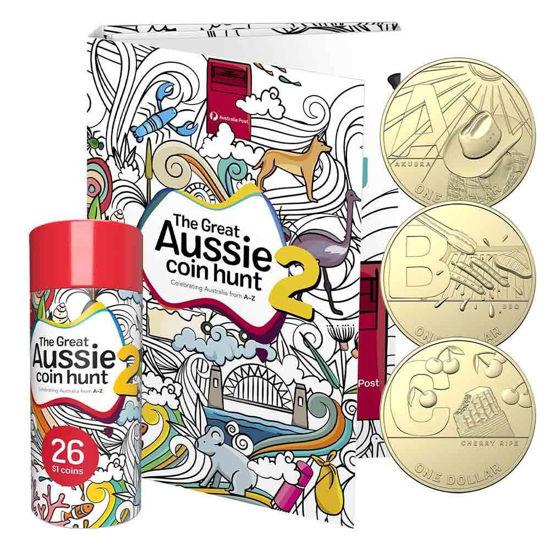 """Picture of Австралія набір з 26 монет 1 долар 2021 """"Алфавіт. Велика австралійська полювання на монети"""". ІІ серія"""