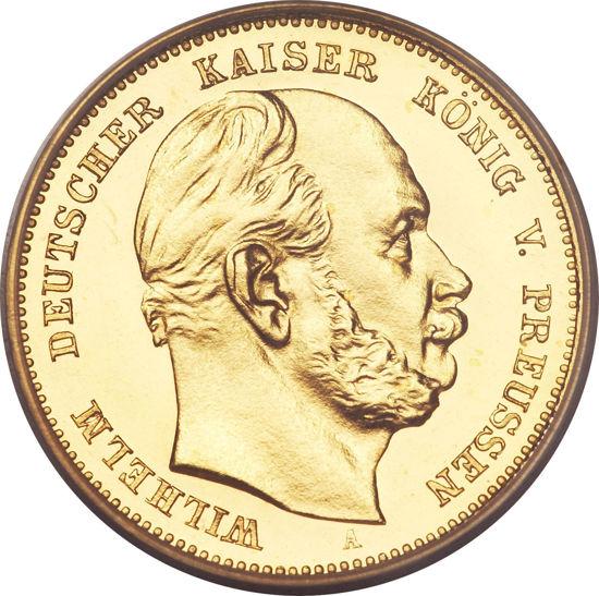 Picture of 1873-1888 гг. Германия Золото 10 марок Вильгельм I
