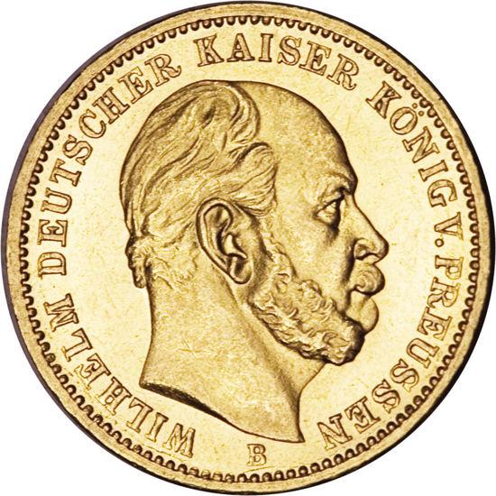 Picture of 1873-1888 гг. Германия Золото 20 марок Вильгельм I