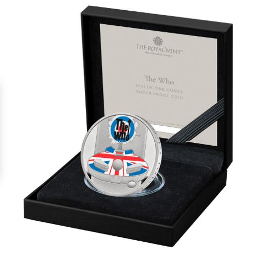 Picture of Англия, Великобритания 2 фунта 2021. Рок-группа «The Who». Серебро 31,1 гр