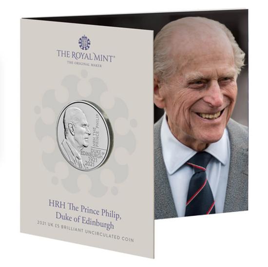 Picture of Англія, Великобританія 5 фунтів 2021. Принц Філіп. Буклет