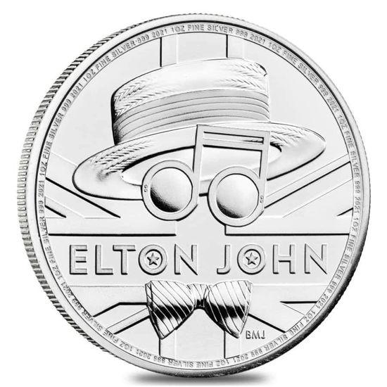 """Picture of Срібна монета """"Елтон Джон"""" 2021 Великобританія 31,1 г"""