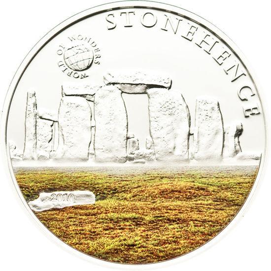 "Picture of Срібна монета Світ чудес ""Стоунхендж"" 25 грам Палау 2010"