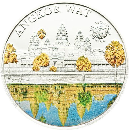 "Picture of Серебряная монета Мир чудес "" Ангкор Вот "" 25 грамм Палау 2010"