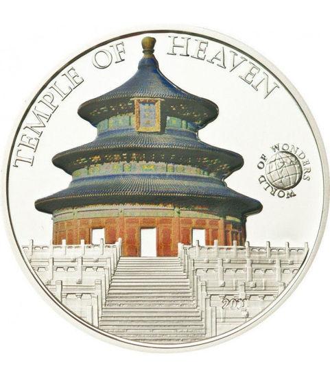 "Picture of Серебряная монета Мир чудес "" Храм неба"" 25 грамм Палау 2010"