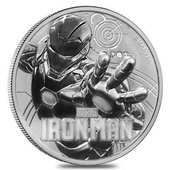 """Picture of Серебряная монета Марвел """"Iron Man - Железный человек"""" 31.1 грамм 2018"""