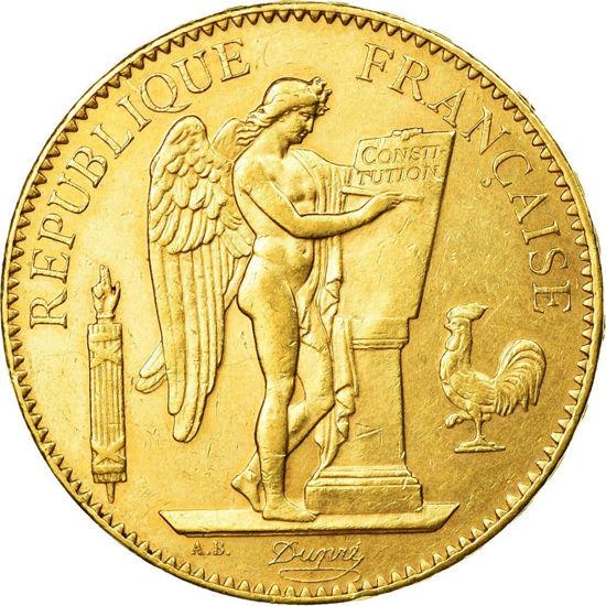 "Picture of Золота монета 100 франків ""Lucky Angel"" Франція 1878-1914"