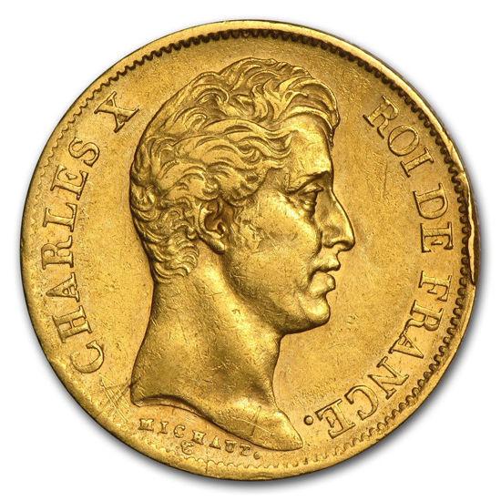 Picture of 1824-1830 Франція Золото 40 франків Карл X