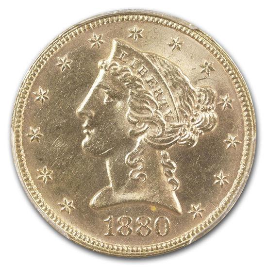 "Picture of Золотая монета ""Либерти - Liberty""  5 $  HALF EAGLES 1880"