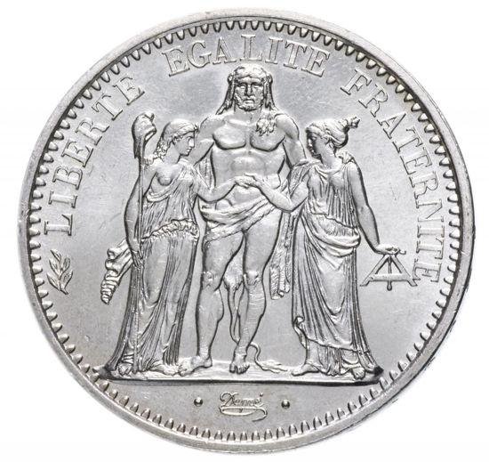 """Picture of Срібна монета """"10 франків -Геркулес"""" 1967 року Франція"""
