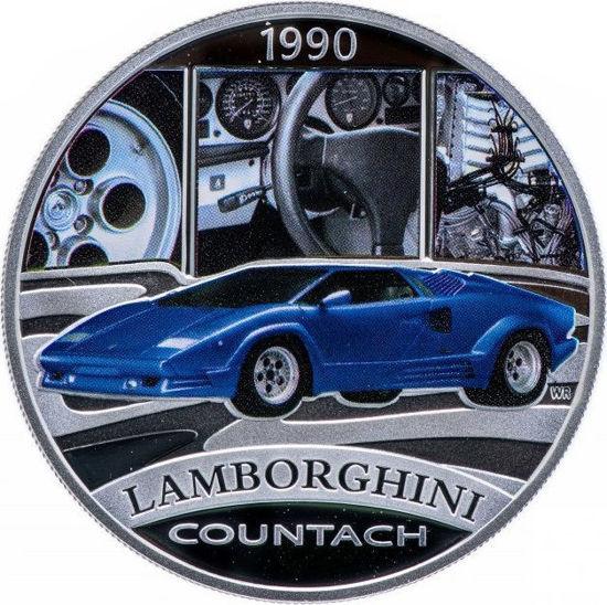 """Picture of Срібна монета """"Lamborghini Countach"""" серія Класика автомобілів світу 31,1 грам"""