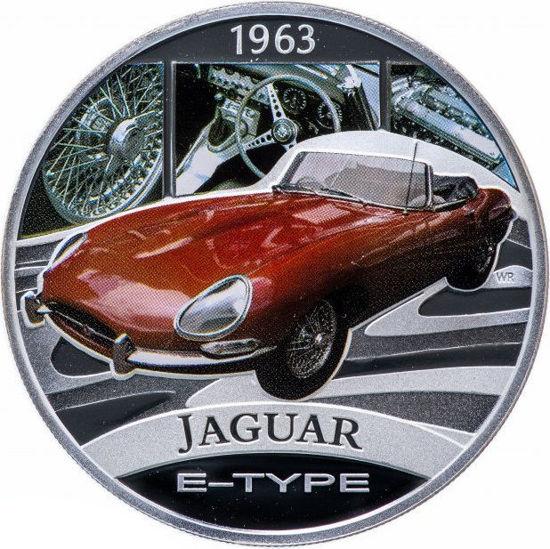 """Picture of Срібна монета """"Jaguar E-Type"""" серія Класика автомобілів світу 31,1 грам"""