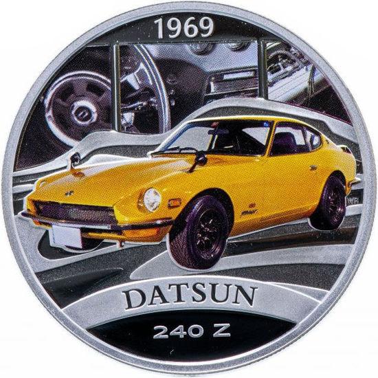 "Picture of Серебряная монета ""Datsun 240 Z"" серия Классика автомобилей мира 31,1 грамм"