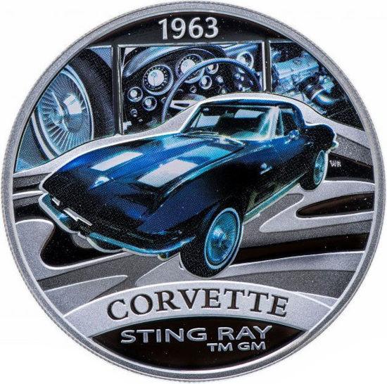 "Picture of Серебряная монета ""Corvette Sting Ray"" серия Классика автомобилей мира 31,1 грамм"
