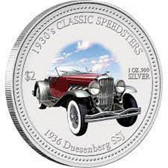 """Picture of Срібна монета """"DUESENBERG SSJ 1936"""" серія КЛАССИЧЕСКИЕ Спідстер 1930-Х РОКІВ 31,1 грам"""