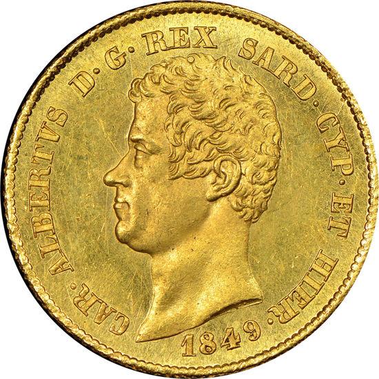 "Picture of Золота монета ""20 лір Альберт"" 1849 6,45 грам"