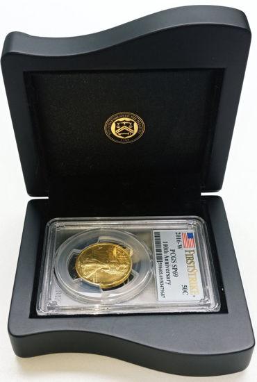 Picture of Золотая монета «100 лет со дня рождения Liberty» 15.55 грамм PCGS SP-69 2016-W