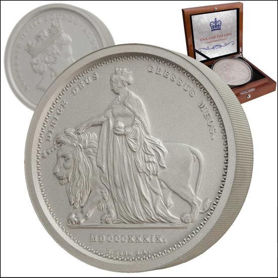 Picture of Серебряная монета  «Уна и Лев», Una & Lion 1 кг. 2019 г.