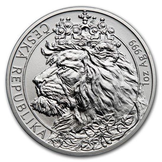 "Picture of Срібна монета ""Чеський Лев"" 31.1 грам 2021 р."