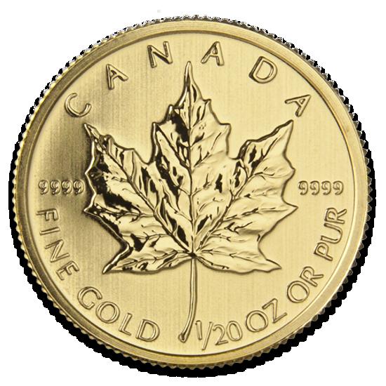 """Picture of Золота монета """"Канадський кленовий лист"""" 1,55 грамм"""