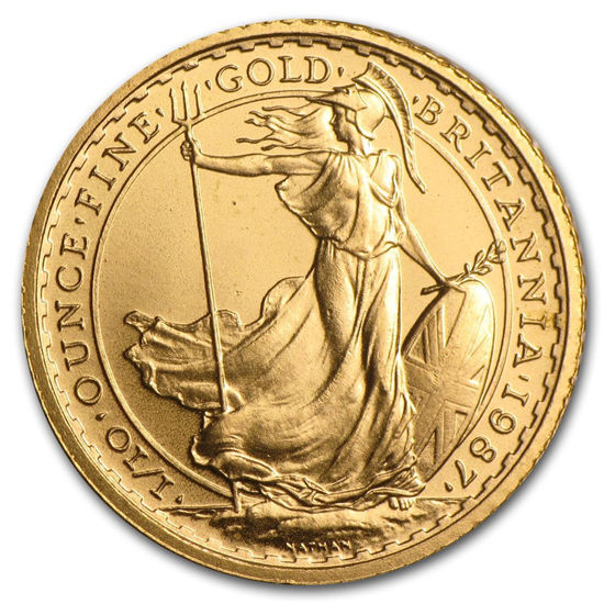 """Picture of Золотая монета """"Британия - Britannia"""" 3.11 грамм 1987 г."""