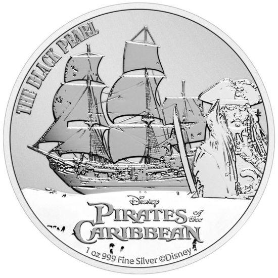 Picture of Серебряная монета  «Пираты Карибского моря - Черная жемчужина» 2021 31,1 грамм
