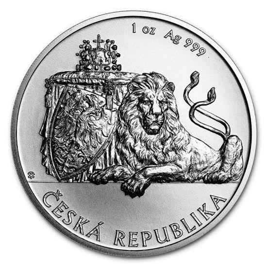 Picture of Серебряная монета  «Чешский лев» 31,1 грамм