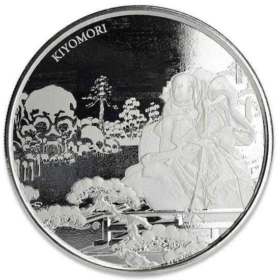 Picture of Серебряная монета  «Самурай Киемори» 31,1 грамм 2018
